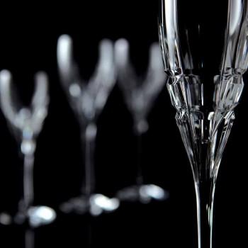 Crystal Flaute Glass për shampanjë në Ekologjik Crystal 12 Copë - Fiucco