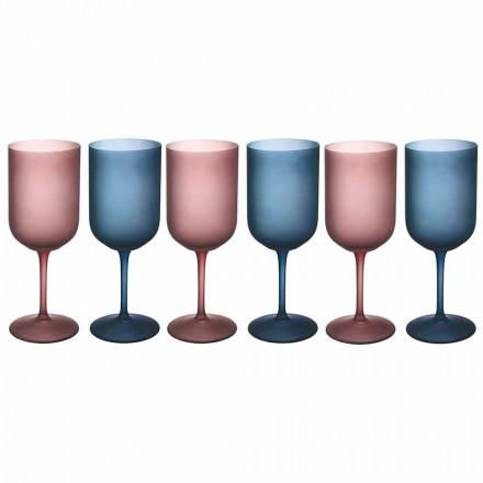 Gota me verë me ngjyra në gotë të ngrirë me efekt akulli 12 copë - Norvegio