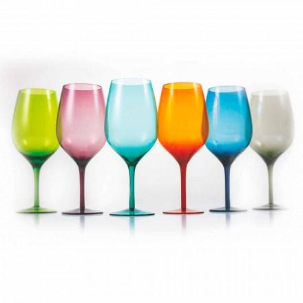 Gota vere me ngjyra të bardha ose të kuqe në gotë 3 variante 12 copë - aperi