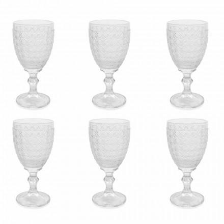 Gota vere në gotë transparente dhe zbukurime, 12 copë - Aperi