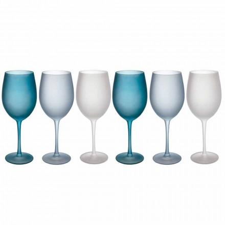 Gota me verë me ngjyra në gotë të acar, me efekt akulli, 12 copë - Vjeshtë
