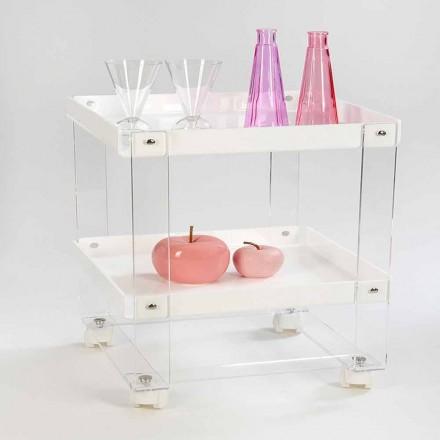 Dizenjoni karrocë ushqimore me 2 rafte në pleksiglas, Diso