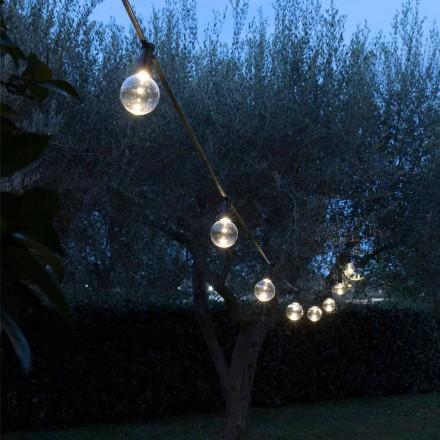 Kabllo e jashtme Neoprene me 8 Llamba LED Të Përfshira Prodhuar në Itali - Parti