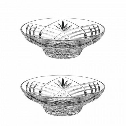 Pjesë qendrore e dizajnit të cilësisë së mirë në kristal ekologjik 2 copë - kantabile