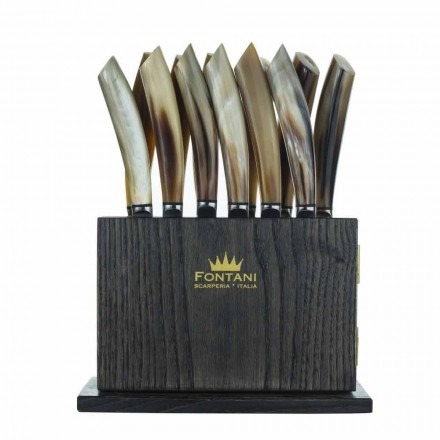 Blloku i Magnetit në Ullinj dhe Druri i Gështenjës prej 12 Prodhuar në Itali - Bllok