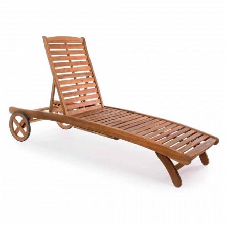 Garden Chaise Longue në dru me rrota të projektimit për natyrë - Roxen