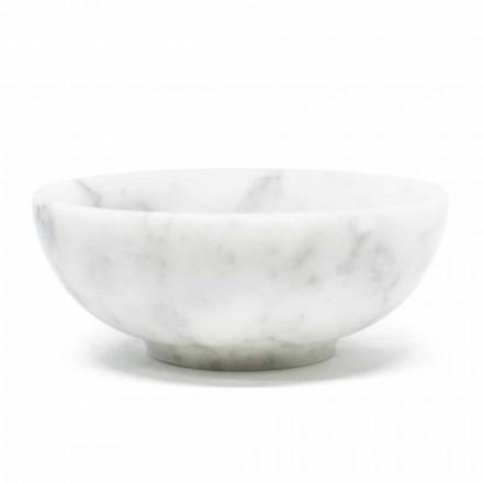 Bowl i rrumbullakët në mermer satirë të bardhë Carrara të bërë në Itali - Delly