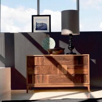 Fustanellë 3 sirtarë dizajn modern në arra të ngurta, Nino