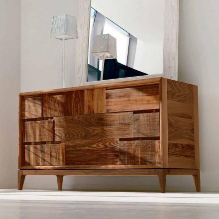 3 dollap dollap Sandro në dru arre, të bërë në Itali, dizajn modern