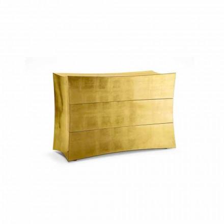 Dollap me 3 dollarë Isidoro i bërë nga MDF, dizajn modern i bërë në Itali