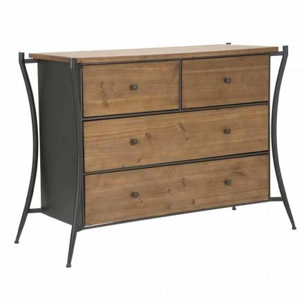 Designer Dresser me 5 sirtarë në Bredh dhe Hekuri - Doran
