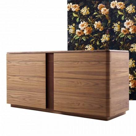 Dizenjoni rrobë të ngurtë druri dhe lëkure Grilli York të bërë në Itali