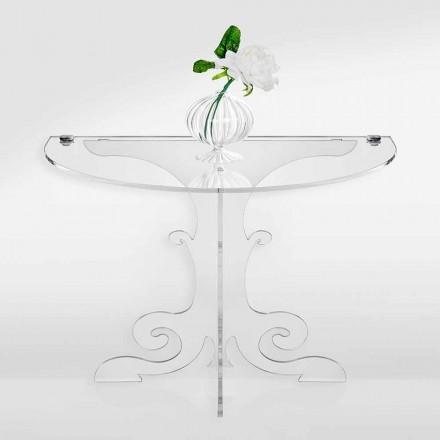 Tavolinë klasike e krevatit të dizajnit në kristal akrilik dhe PMMA, Tiana
