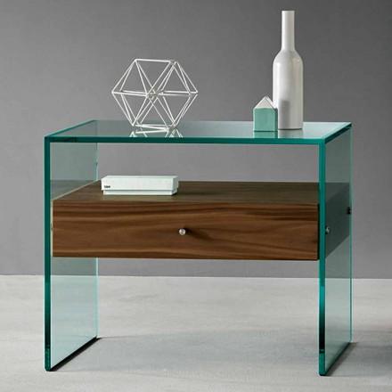Tabela anësore e dizajnit modern në gotë ekstraksionare të bërë në Itali - Segreto
