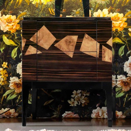 Tavolinë për shtratin në dru arre dhe me gjemba Grilli Zarafa bërë në Itali