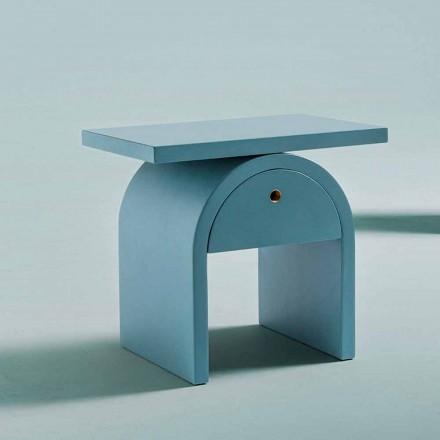 Tavolinë pranë shtratit me dizajn modern në dru me ngjyra për dhomën e gjumit - Arcom