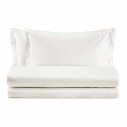 Set elegant për krevat dopio në pambuk me ngjyrë saten - Violetta