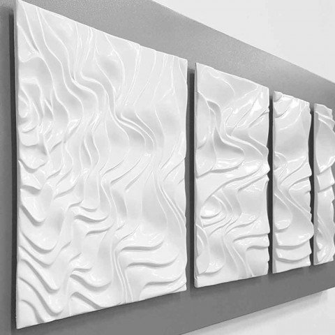 Përbërja e murit e dekorimit të projektimit në qeramikën moderne me abstrakte - Verno