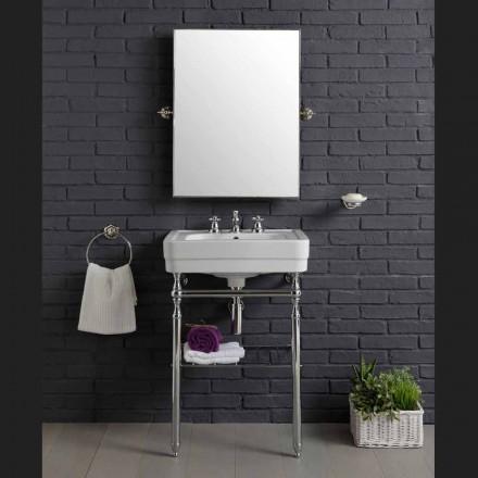 Përbërja e mobiljeve të cilësisë së mirë për banjë me lavaman në strukturën e bukurisë metalike