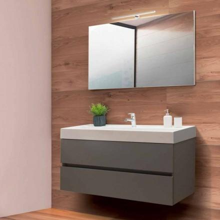 Kabineti i banjës 120 cm, Pasqyra e lavazhit dhe lavamanit - Becky