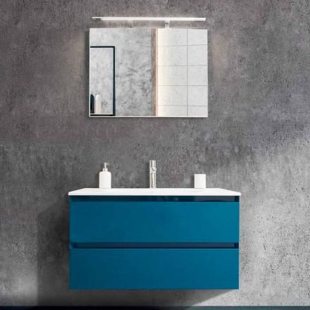 Kabineti i banjës 90 cm, Pellgu Moderne dhe Pasqyra - Becky