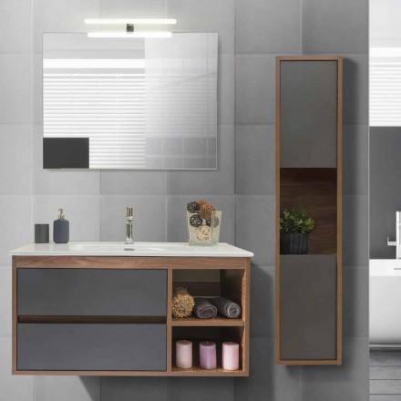 Kabineti i banjës 100 cm, Lavaman, Pasqyrë dhe Kolonë - Becky