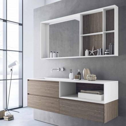 Përbërja e mobiljeve të banjës, dizajni modern dhe i pezulluar i prodhuar në Itali - Callisi8