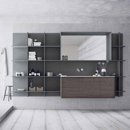 Përbërja e mobiljeve të banjës së pezulluar dhe moderne, Mobilje për dizajn - Callisi12