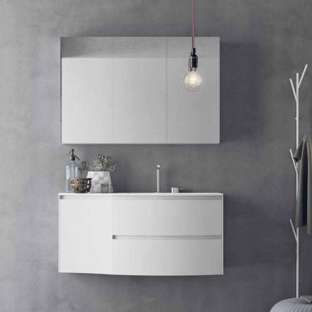 Përbërja moderne dhe e varur e banjës e prodhuar në Itali Dizajn - Callisi7