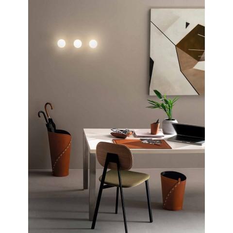 Përbërja e Zyrës Moderne të Dizajnit në Lëkurë e bërë në Itali - Giulio