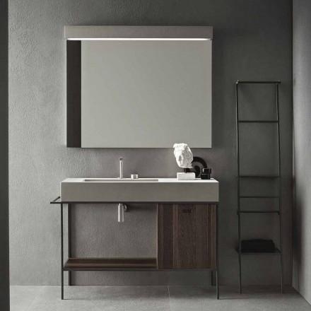 Përbërja e mobiljeve të bëra me dorë për banjo me dizajn modern në tokë - Farart3