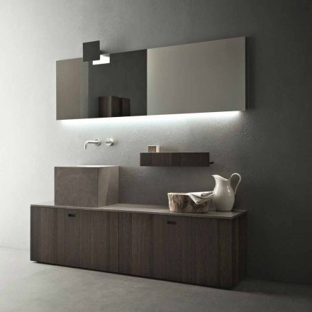 Dizajn modern Përbërja e mobiljeve të banjës në dysheme - Farart1