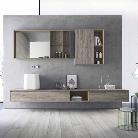 Përbërja e mobiljeve moderne të banjës, dizajni i pezulluar i prodhuar në Itali - Callisi6