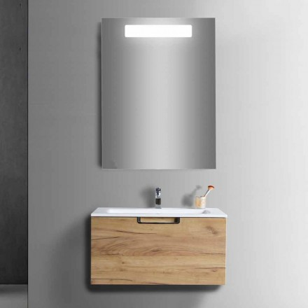 Përbërja e kabinetit të Vanit të Banjës në Dru dhe Pasqyra e Dizajnit Modern - Gualtiero