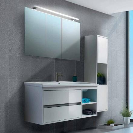 Kabineti i banjës 100 cm, Pasqyra, Lavaman dhe Kolona - Becky