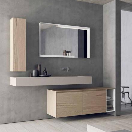 Përbërja moderne dhe e varur e mobiljeve të banjës, Projektimi i prodhuar në Itali - Callisi1