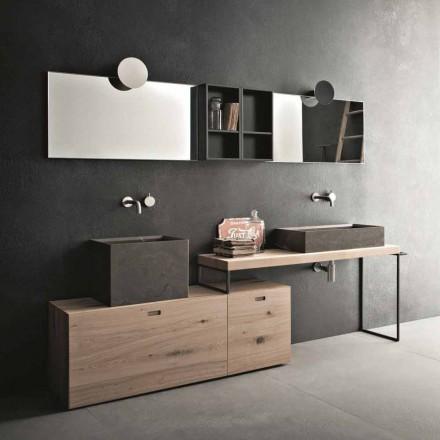 Përbërja banjo moderne e mobiljeve për dizajnin tokësor prodhuar në Itali - Farart6