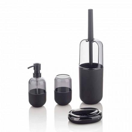 Përbërja moderne e aksesorëve të banjove në gome plastike dhe të zezë - Noto