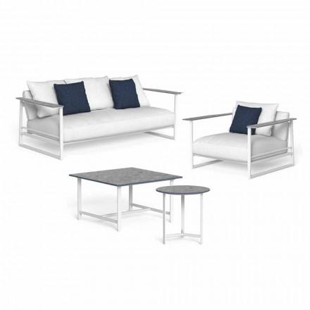 Dizajnoni përbërjen e dhomës së ndenjes në alumin dhe gres - Riviera nga Talenti