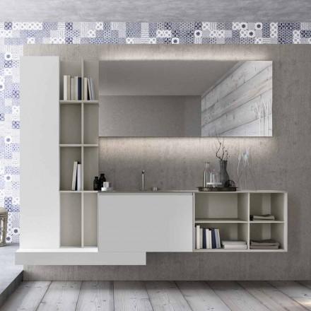 Përbërja e mobiljeve të banjës së pezulluar me dizajn modern të prodhuar në Itali - Callisi15