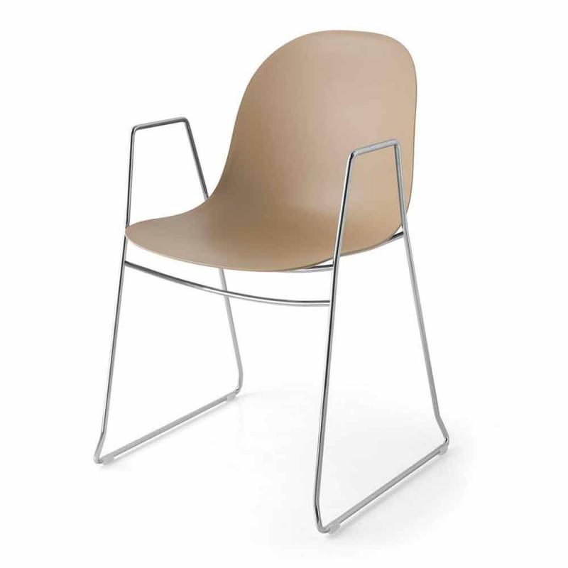 Akademia Connubia Calligaris karrige moderne në polipropileni, 2 copë