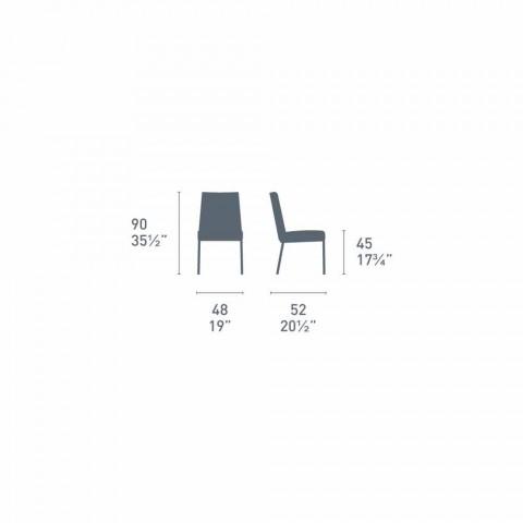 Connubia Calligaris Boheme karrige moderne prej lëkure dhe metali, 2 copë