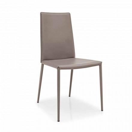 Connubia Calligaris Boheme karrige moderne, grup 2 prej lëkure dhe metali