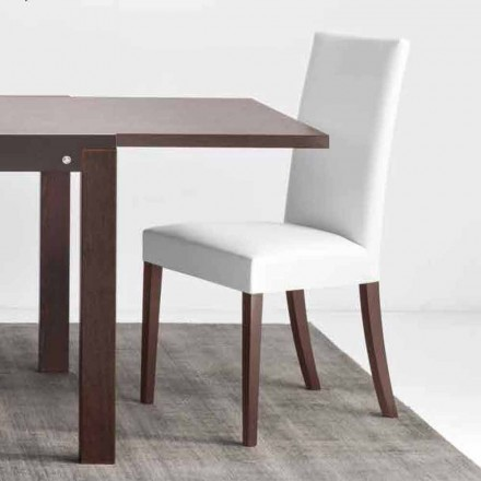Connubia Calligaris Kopenhagen karrige prej druri dhe faux lëkure, grup 2