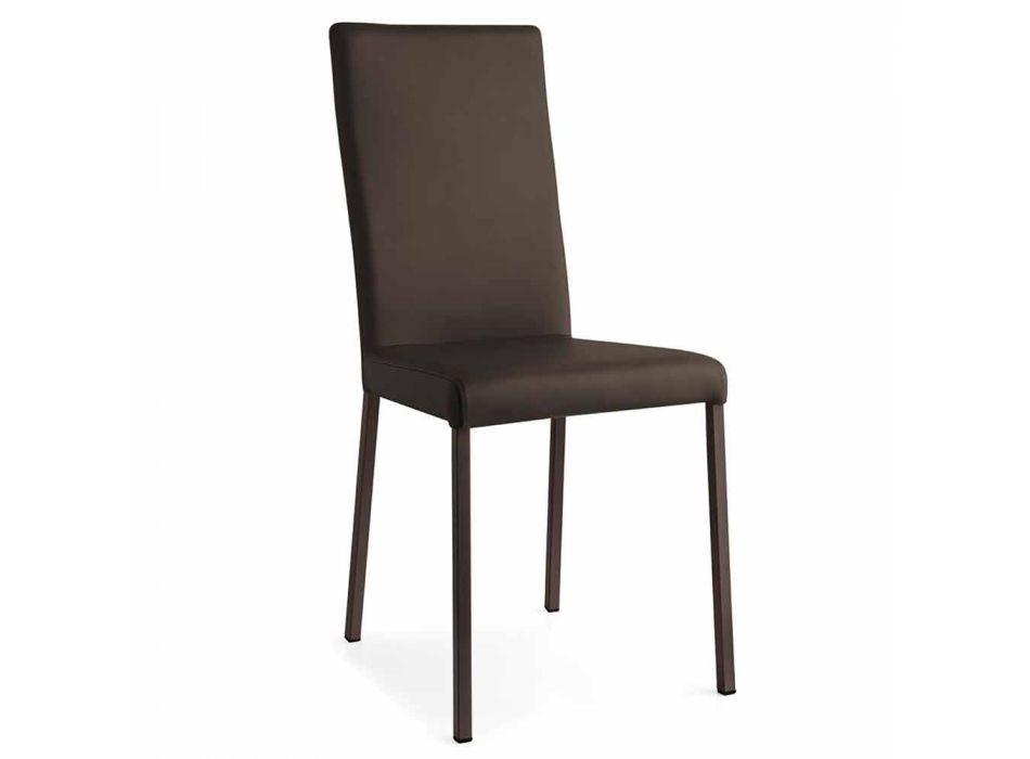 Connubia Calligaris Garda pëlhurë moderne dhe karrige metalike, 2 copë