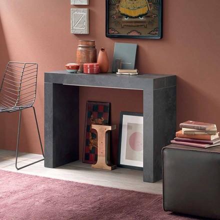 Konsolë e zgjatur e tryezës Deri në 290 cm me majë druri të prodhuar në Itali - Seregno