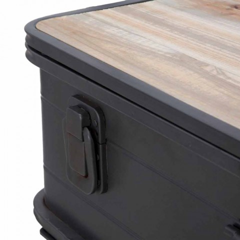 Konsol me kontejner me hekur dhe dru të dizajnit modern - Gomes