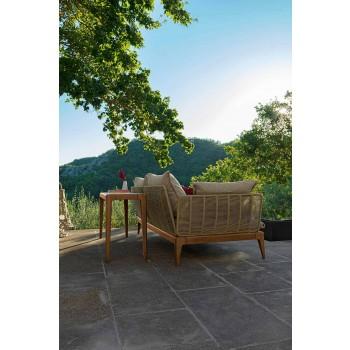 Console Outdoor Moderne në Teak Wood dhe Capraia Stoneware - Cruise Teak Talenti