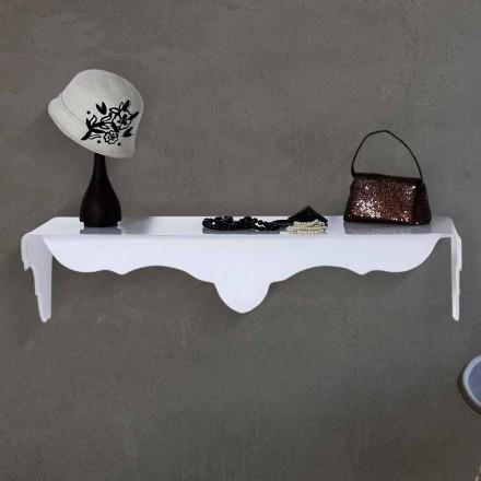 Tavolinë tastierë e fiksuar në mur me një dizajn modern Bianca, ngjyrë të bardhë
