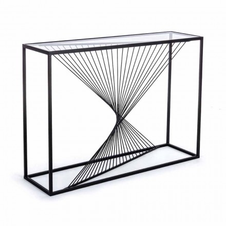 Console in Steel and Glass Modern Design Original Spiral - Sasuke